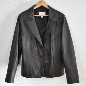 Worthington Dark Brown Lambskin Jacket Large